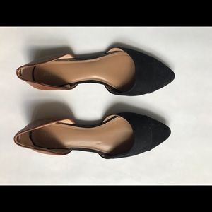 Black and Brown d'Orsay Flats
